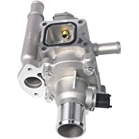 Coolant Thermostat and Housing Assembly with Sensors - Fits Chevy Cruze, Limited, Trax, Sonic 1.8L & 1.6L - Replaces 25192228, 55564890, 55577284, 15-81816, 902-033, 55579951, 96984103 - Full Aluminum