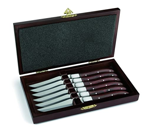 3 opinioni per Amefa 252000WP00K35 Laguiole- Set di coltelli da carne Royal Steak, forgiati,
