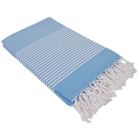 Tela de Hamam DENIZ azul claro 100x200cm, ligera y fina de 100% algodón -