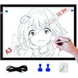 LED Light Box for Tracing 2nd Gen Light Pad for Diamond Painting Large light Board for Artists Drawing Sketching…