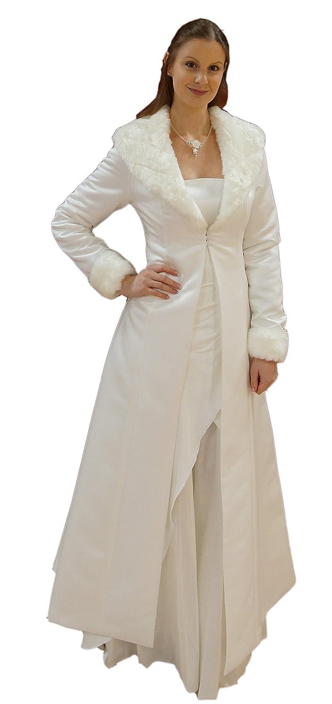 Brautmantel / Hochzeitsmantel / Mantel zum Brautkleid aus Satin mit ...