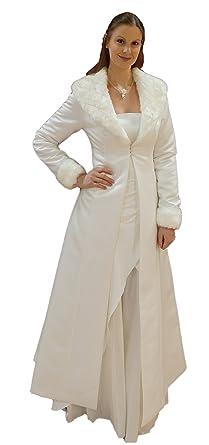 Brautkleid mit mantel ivory