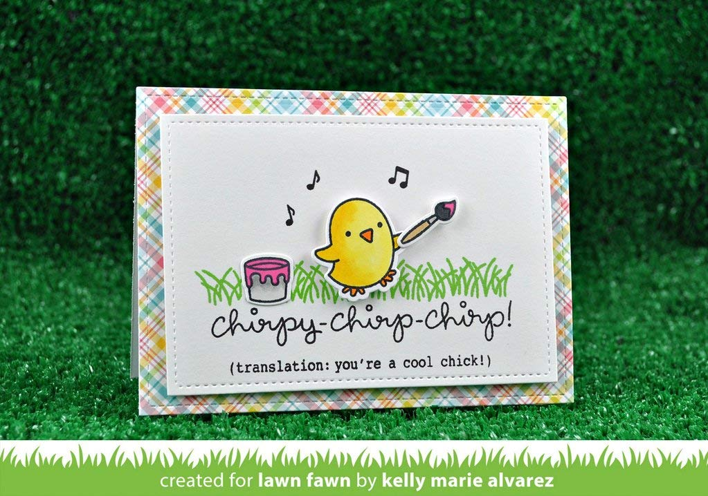 Lawn Fawn Chirpy Chirp Chirp Clear Stamp and Die Set