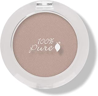 product image for 100% PURE Pressed Powder Eye Shadow (Fruit Pigmented), Flax Seed, Shimmer Eyeshadow, Buildable Pigment, Easy to Apply, Natural Makeup (Soft Neutral Matte Nude) - 0.07 oz