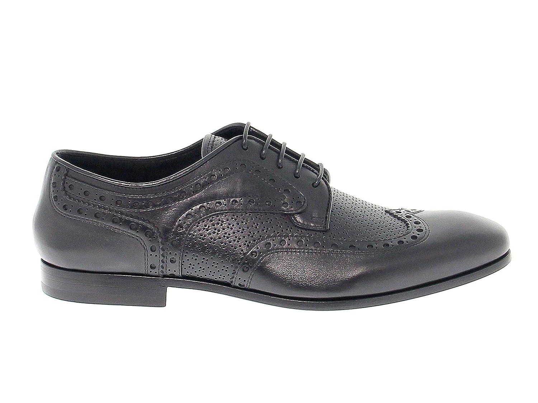 - Fabi Hombre 8991negro negro Cuero zapatos De Cordones