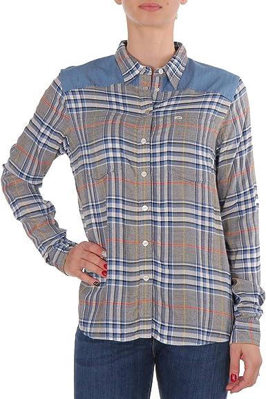 Lee Fabric Mix - Camisa para mujer, diseño a cuadros, color ...