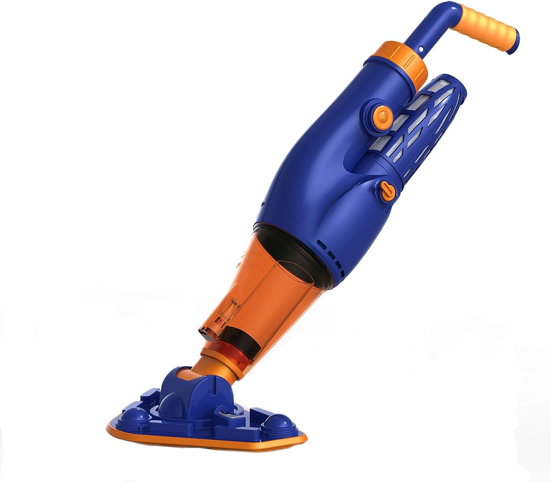"Aqua First NE4484 Hurricane Pool Vacuum, 6"" L x 11.9"" W x 29.5"" H, Blue & Orange"