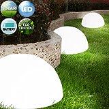 Set 3 lampes solaires semi-circulaires sans fil à LED Jardin terrasse - Batterie rechargeable au soleil