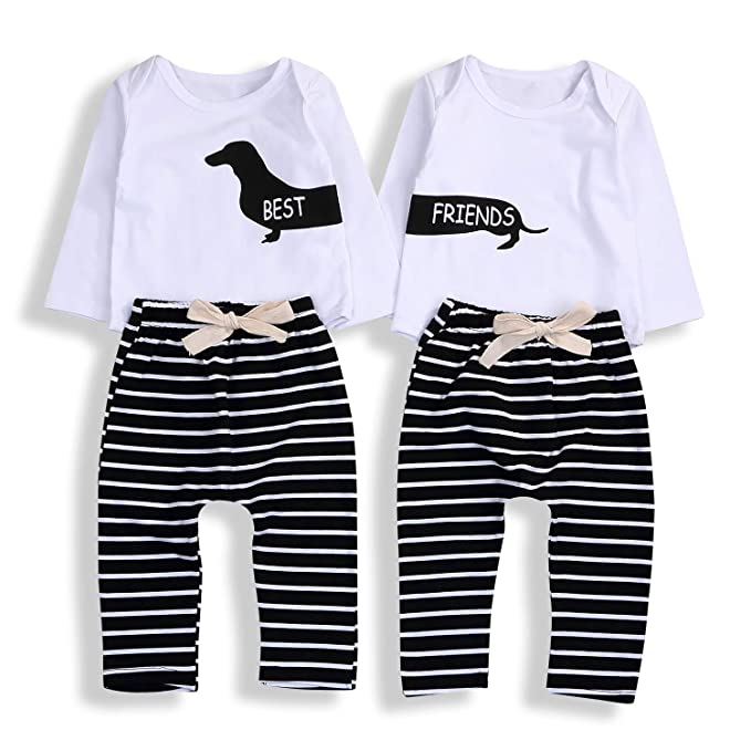 Amazon.com: KONIGHT 2 piezas Bebé Twins Bebé Niña Niño ...