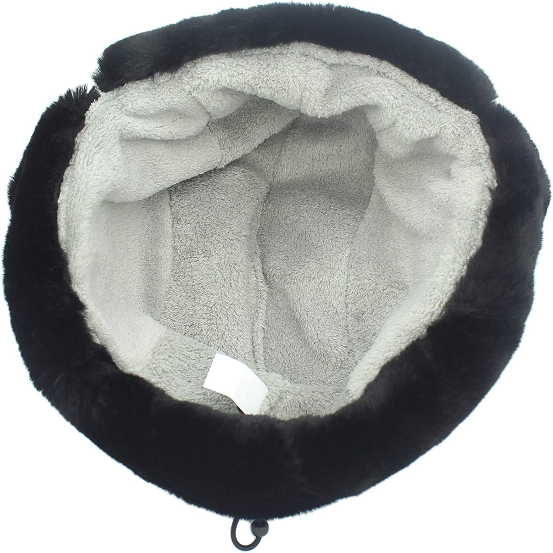 Decentron Oudoor Unisex Faux Fur Lined Trapper Hat Windproof Winter Russian Bomber Hats