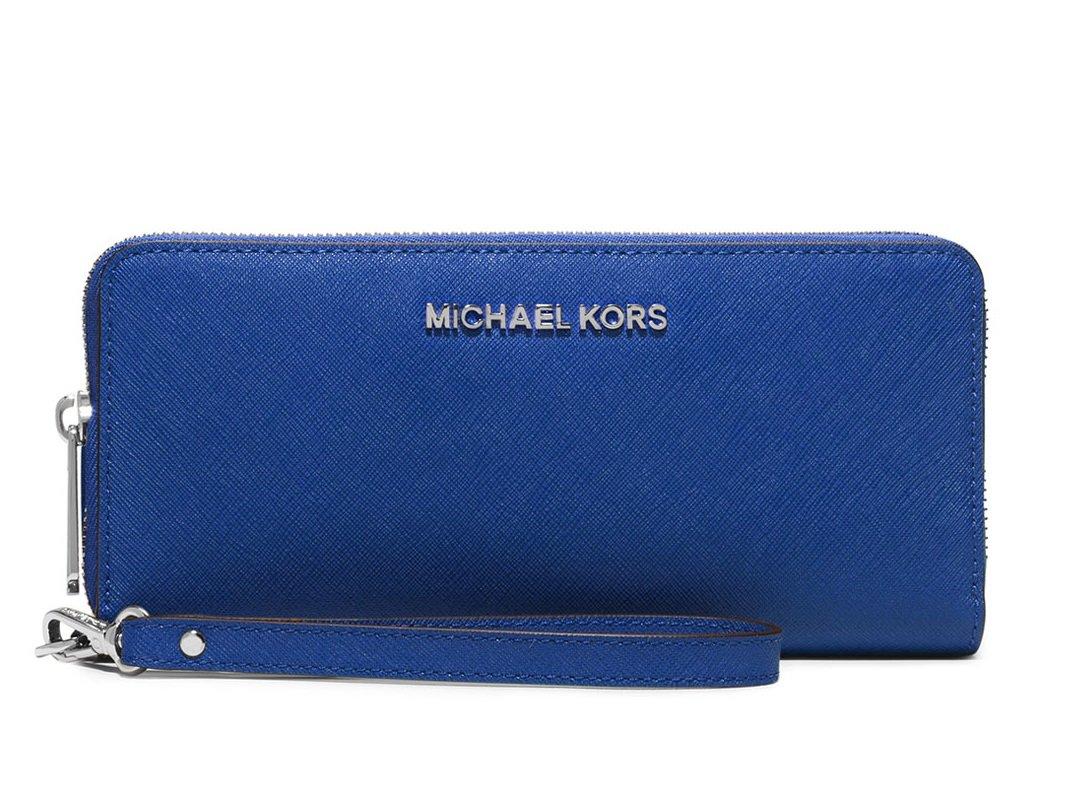 Michael Kors Jet Set Travel Continental Wallet Wristlet - Electric Blue by Michael Michael Kors (Image #1)