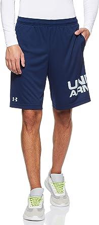 Men/'s Under Armour UA Tech Wordmark Shorts in Black