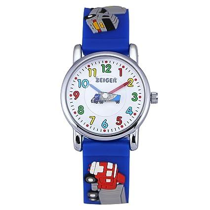 Zeiger primera vez profesor jóvenes niñas niños relojes niños reloj de pulsera Rainbow Kids Relojes 3d