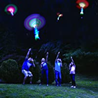 5PCS Amazing LED Light Arrow Rocket Helicopter Flying Toy Party Fun Gift Elastic Slingshot Flying Copters Birthdays…