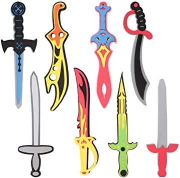Amazon.com: Conjunto de 8 espadas de espuma para niñ ...
