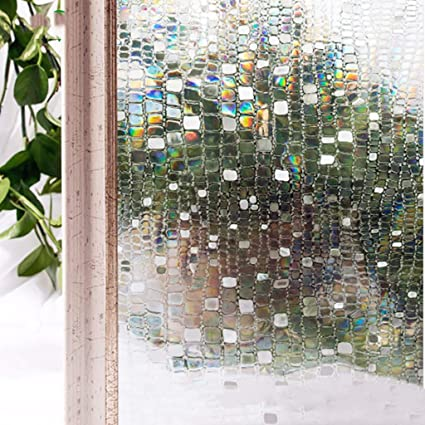 amazon com tt cc lattice window film frosted 3d non adhesive eco