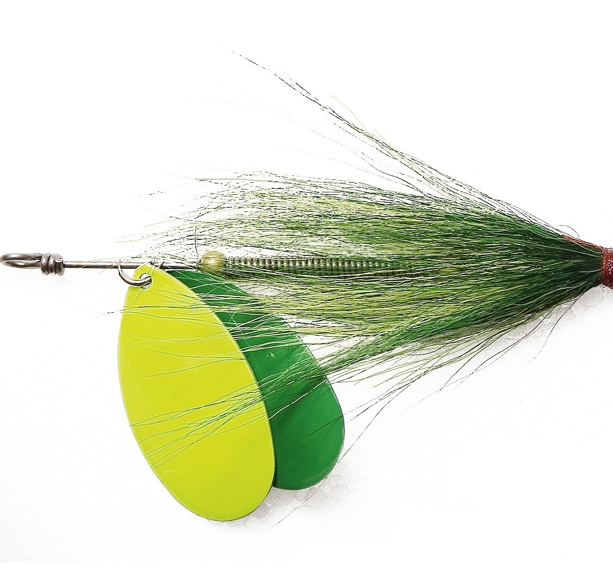 Double Treble Hook Quality Imitation Lures 73g FLADEN Fishing GIANT BUCKTAIL Double Blade Spinner 24cm