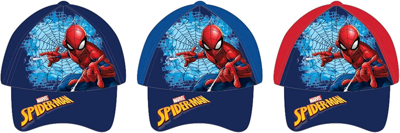 Infantil para Ni/ños Disney Gorra Spiderman Multicolor