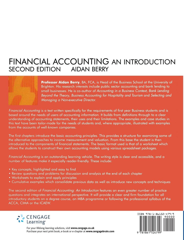 Financial Accounting: An Introduction: Amazon.co.uk: Aidan Berry ...