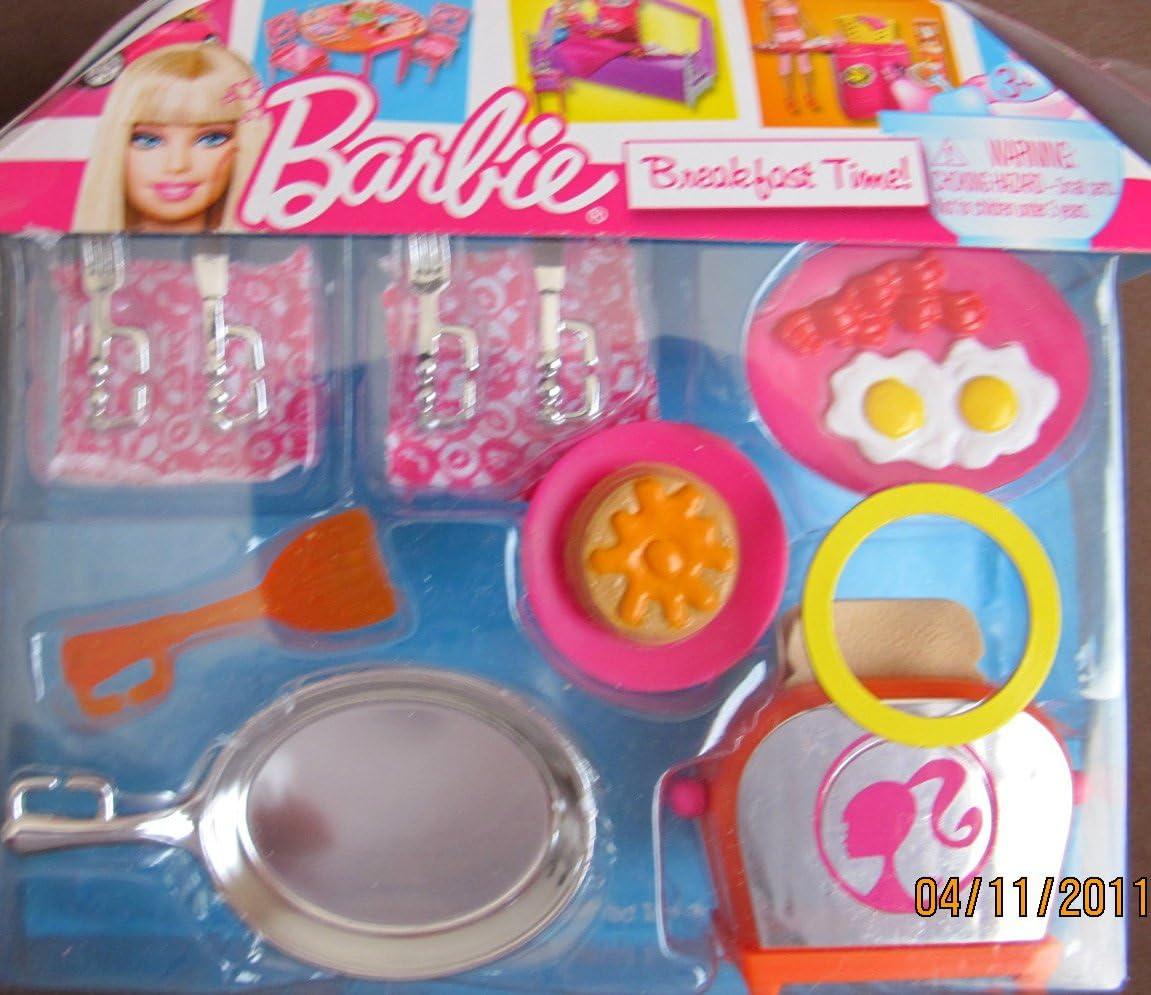 Barbie Breakfast Time! Playset w Pop Up Toaster, Fry Pan & MORE! (2010)