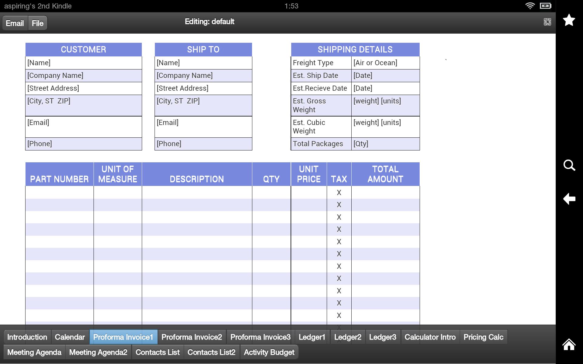 amazon com proforma invoice pro appstore for android