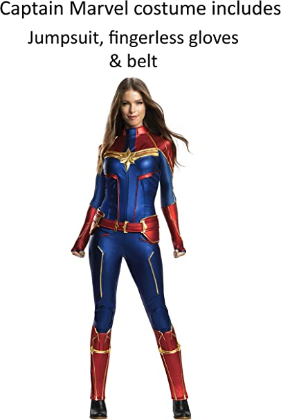 Amazon Com Rubie S Women S Marvel Adult Captain Marvel Adult Grand Heritage Costume Adult Costume Clothing We know the design and illustrations that go into making up our favorite comic heroes is an art form. rubie s women s marvel adult captain marvel adult grand heritage costume adult costume