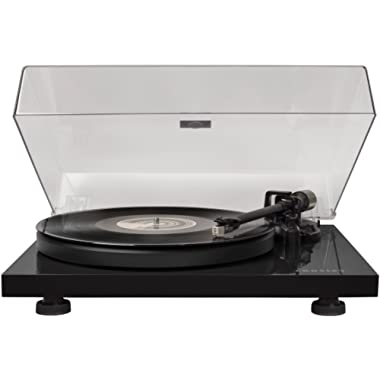 Crosley C6 Belt-Drive Turntable with Built-in Preamp and Adjustable Tone Arm, Black