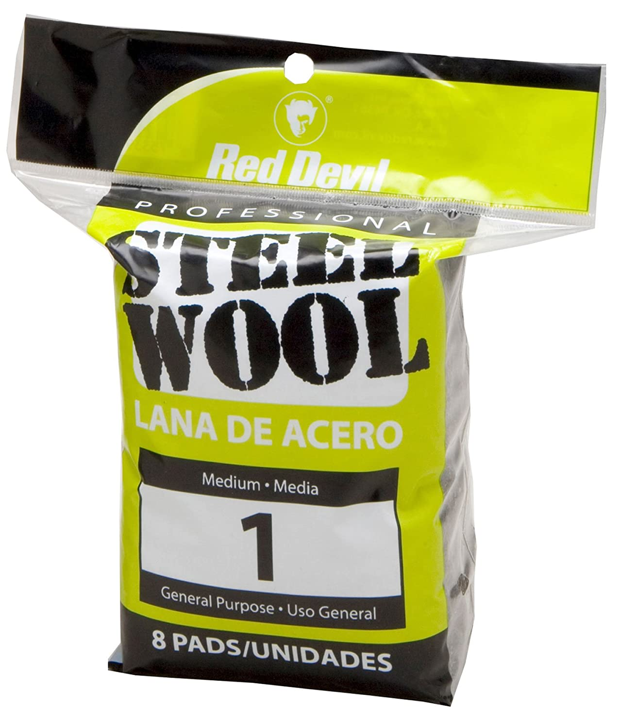 Red Devil 0325 8-Pack Coarse Steel Wool, No. 2 Medium