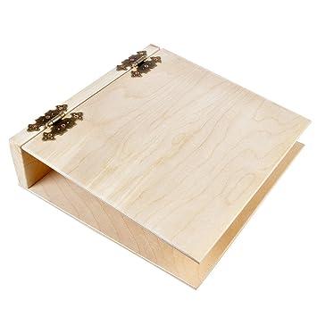 Archivador, A4, carpeta de madera clara Madera carpeta: Amazon.es: Oficina y papelería