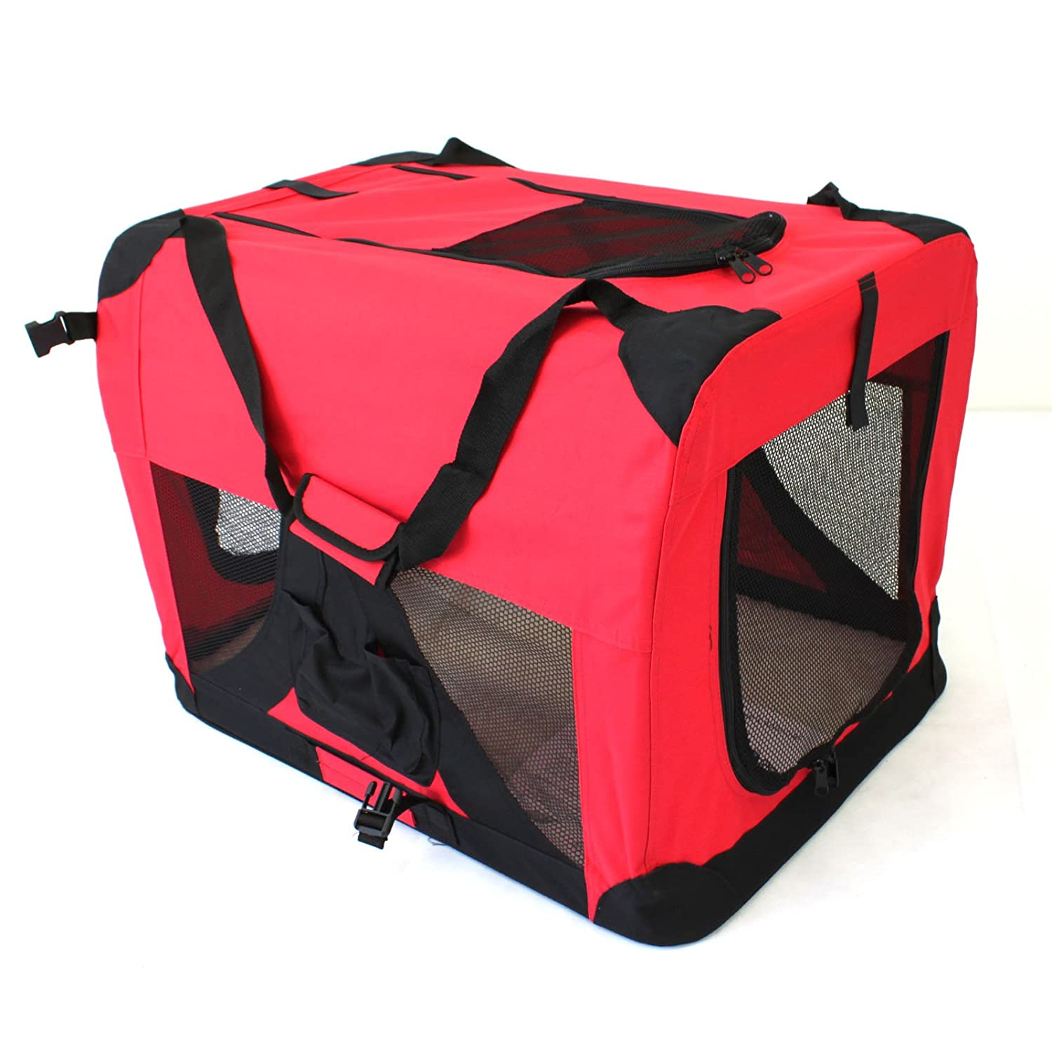 Large 70x50cm Pet Travel Carrier Soft Crate Portable Puppy Dog Cat Kitten Cage Kennel Home House Red (Large 70x50cm)