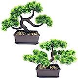 FycoolerArtificialPlantsArtificialBonsaiPineTrees,ArtificialPlantsGreeneryJapanesePineDesktopDisplaySimulation,O