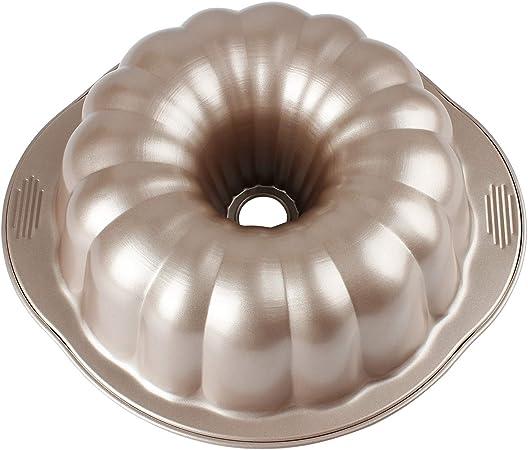 MyLifeUNIT Carbon Steel Bundt Cake Pan, Nonstick Bundt Pan with Handles, 10-Inch