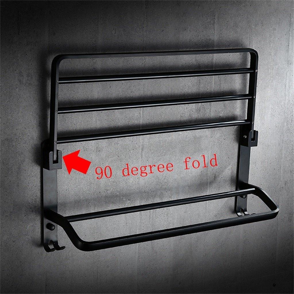 Size : 40cm Retro Falthandtuchhalter Raum Aluminium Bad Handtuchhalter Badaccessoires Wxy-wxy Punch-Free Schwarzen Handtuchhalter