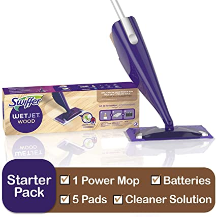 Amazon Com Swiffer Wetjet Starter Kit Includes 1 Mop 5 Pads 1