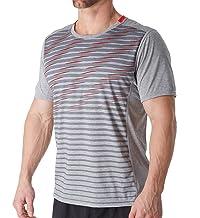 Brooks  Men's Distance Short Sleeve Shirt Heather Black/Heather Sterling Large