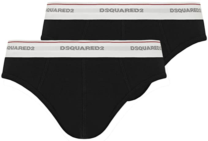 4e573fcf0b1848 DSquared DSQUARED2 Cotone Jersey Stretch Twinpack Intimo: Amazon.it ...