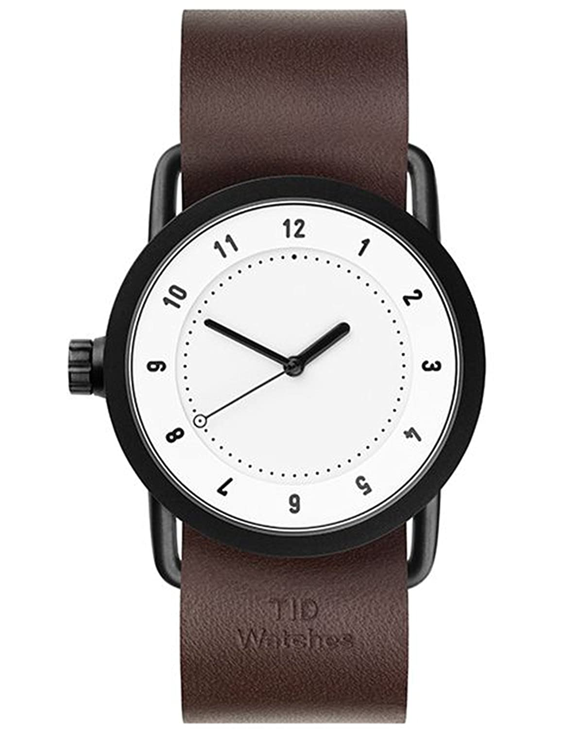 TID No.1 36 White-Walnut Leather horloge 10200103