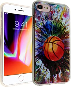 iPhone SE 2020 CASEMPIRE Basketball Art TPU Case Shock Proof Never Fade Slim Fit Cover for iPhone SE 2020 Basketball Art