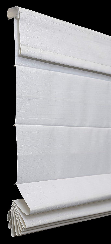 Windowsandgarden Custom Cordless Fabric Roman Shades Light Filtering Thermal Backing Sizes 18 3//8-72 Wide Cotton