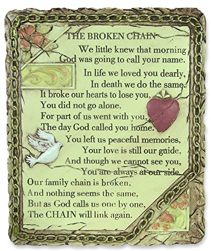 Amazon.com: Broken Chain Plaque Wall Decoration - Sympathy Gift ...