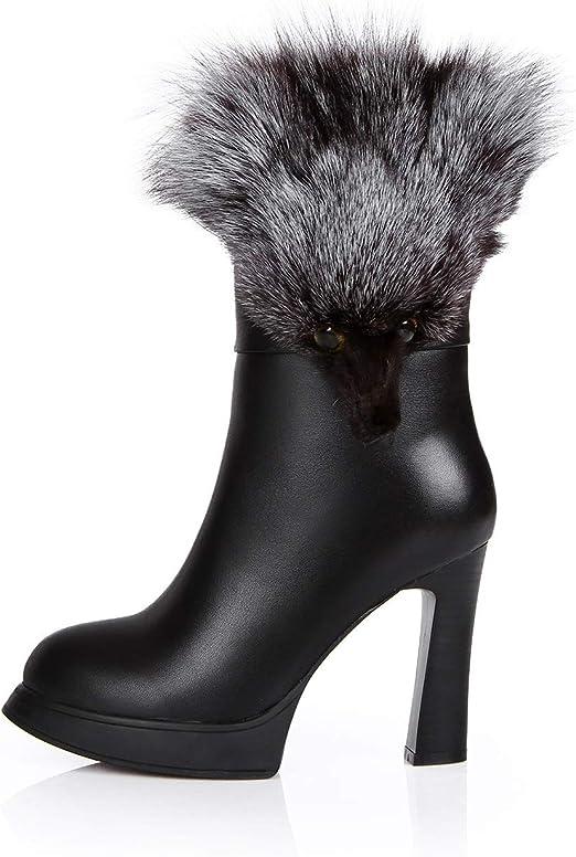 Hy Chaussures pour Femme en Cuir Bottes