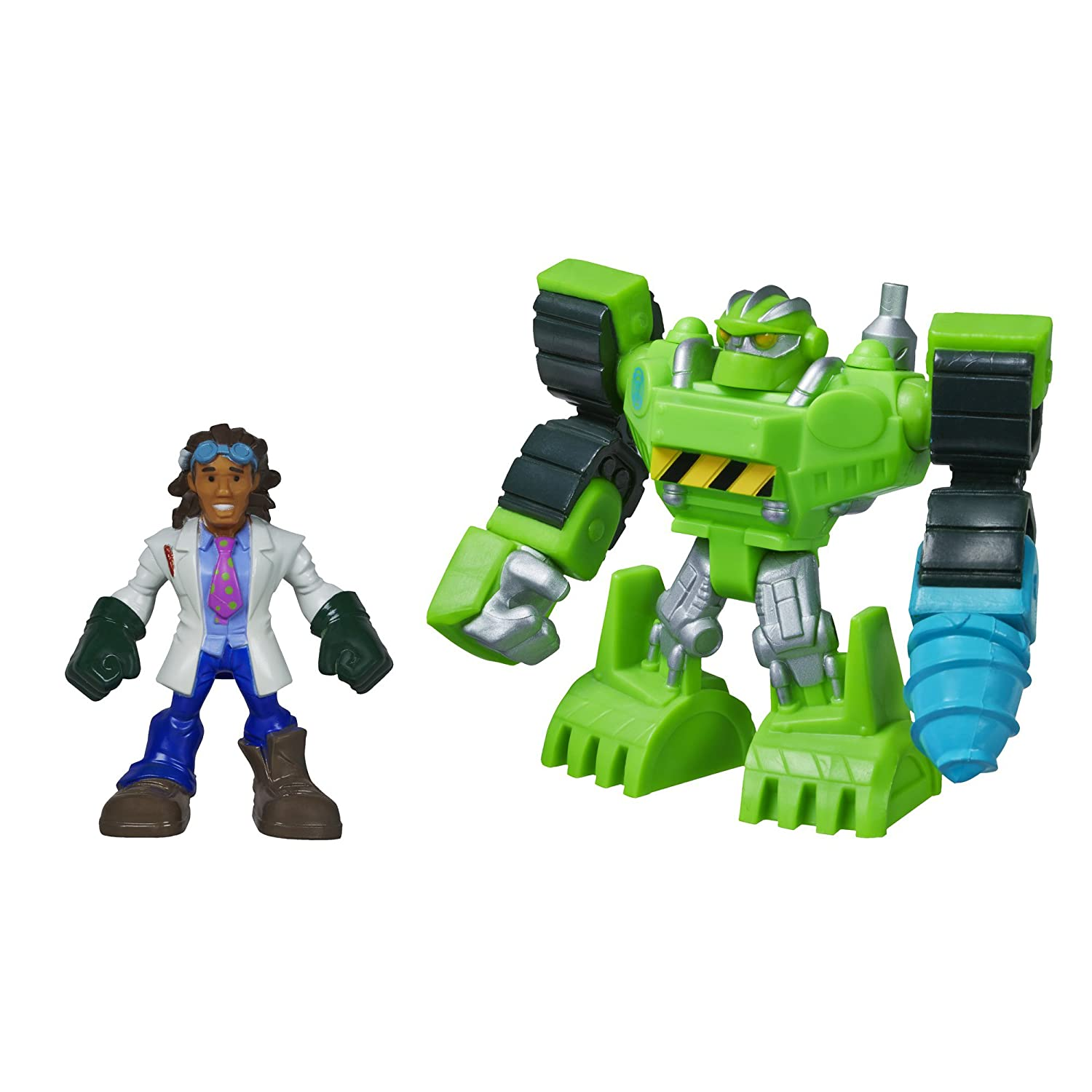 Playskool Heroes Boulder The Construction Bot And Doc Green: Amazon.co.uk:  Toys U0026 Games