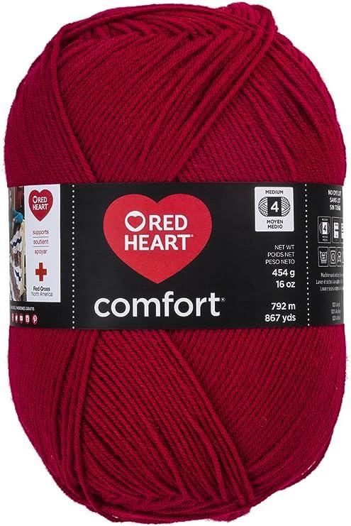 Red Heart Comfort Yarn-Pink /& Grey Print