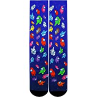 Mens Crazy Funny Cool 3D Print Pattern Novelty Crew Tube Socks