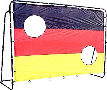 Ordentlich Fußballtor mit Netz und Torwand Germany - 2in1 Set - Kinder Tor  KN29