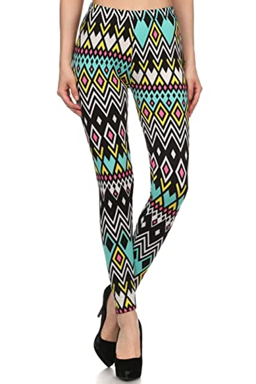 b23fe571295 Always Women s Juniors Fleece Lined Black Multi Diamond Print Stretch  Leggings at Amazon Women s Clothing store