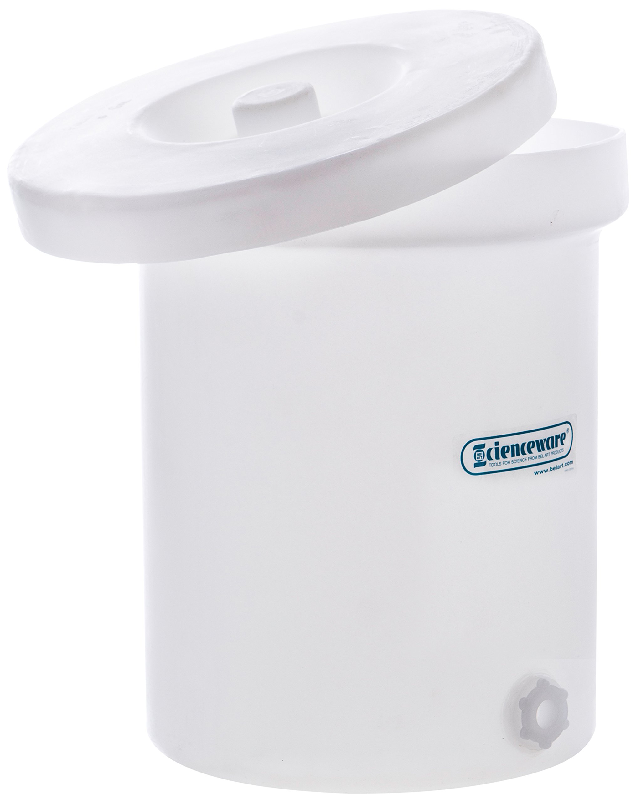 Bel-Art Polly-Crock Polyethylene Tank with Lid, Without Faucet; 6gal (H35106-0000)