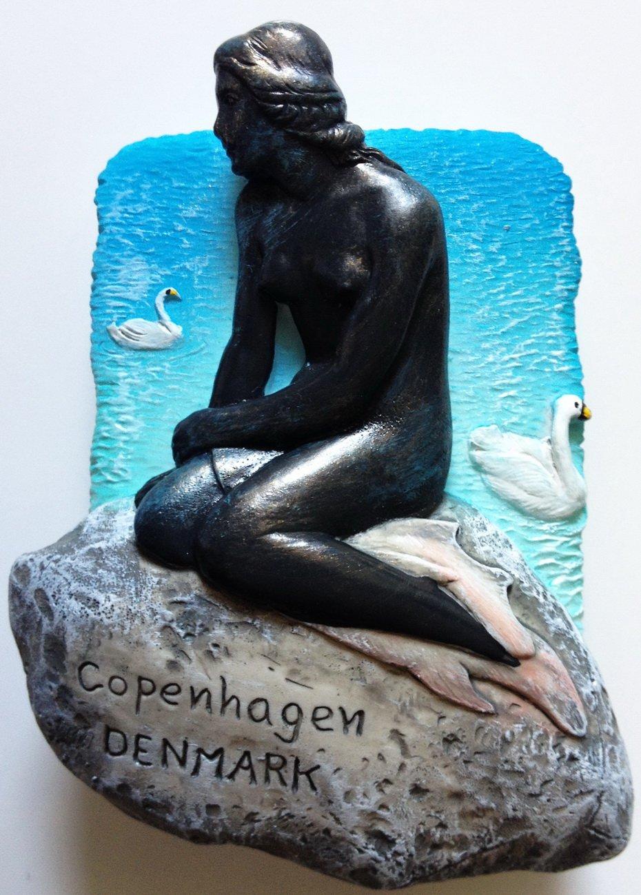The Little Mermaid COPENHAGEN Denmark Resin 3D fridge Refrigerator Thai Magnet Hand Made Craft. by Thai MCnets