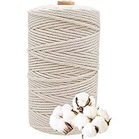 Natuurlijk katoen garen macramé koord voor breien, diameter 3mm lengte 200m katoen garen knutselkoord DIY ambachtelijke…
