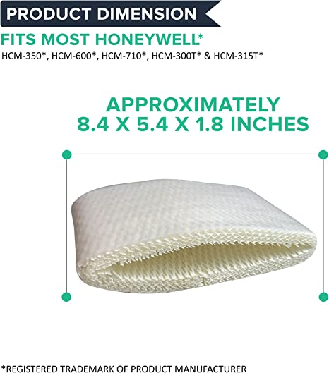 HCM-310T Think Crucial Humidifier Wick Filter Replacement 1 Pack HAC-504 Models HCM-300T Bulk HCM-315T Compatible with Honeywell Air Filters Part # HAC-504AW HCM-350 HCM-305T
